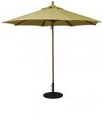 532tk 9' Teak Market Umbrella