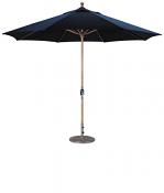 587tk 11' Teak Market Umbrella