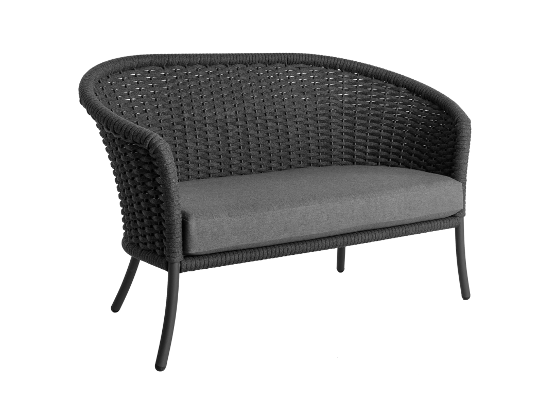 Curved Loveseat/ Gray