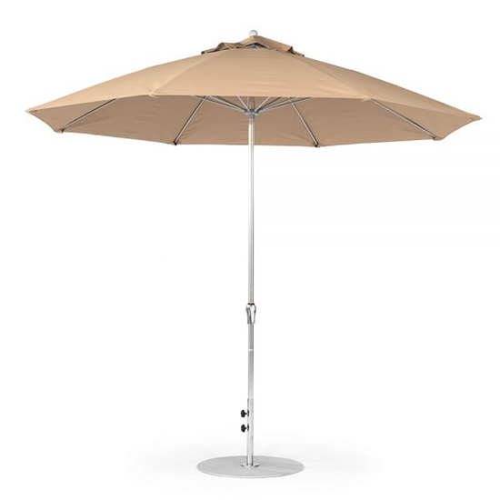 11' Octagon Fiberglass Crank/NO TILT Market Umbrella