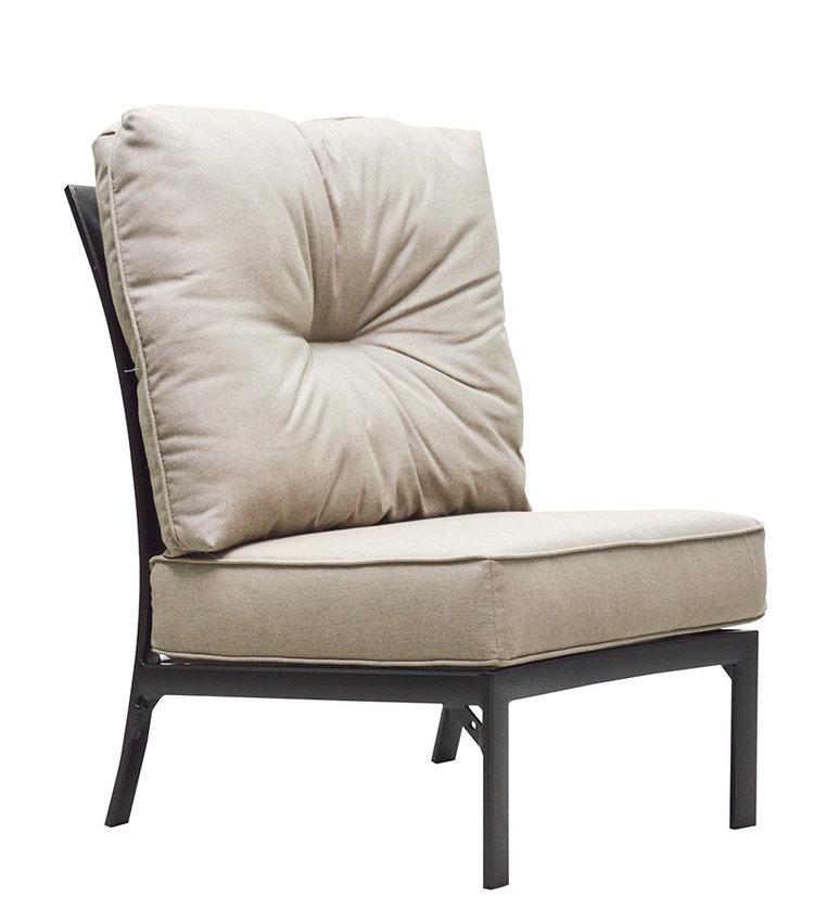 Mandalay HB Crescent Armless Chair