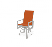 Balcony Height Swivel Arm Chair