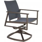 Marin Flex Comfort Swivel Rocker Dining Arm Chair