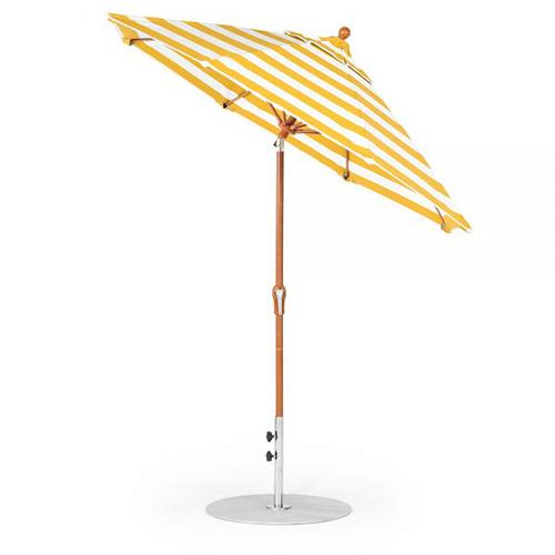 7.5' Octagon Fiberglass Crank Auto Tilt Market Umbrella