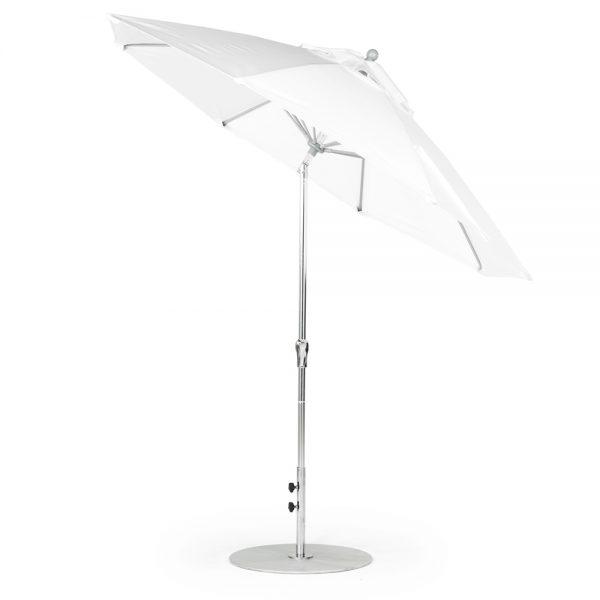 9' Octagon Fiberglass Crank Auto Tilt Market Umbrella