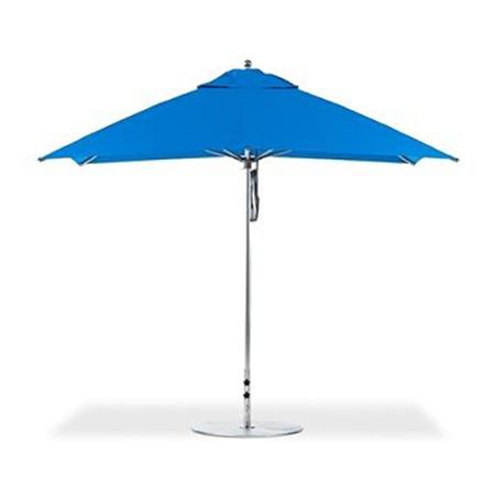 8'x10' Rectangular Fiberglass Crank Auto Tilt Market Umbrella