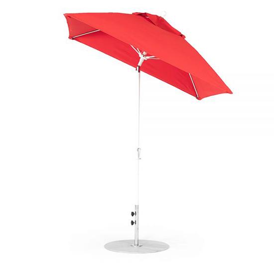 6.5' Square Fiberglass Crank Auto Tilt Market Umbrella
