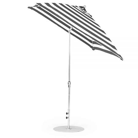 7.5' Square Fiberglass Crank Auto Tilt Market Umbrella