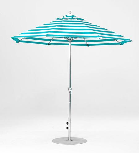 7.5' Octagon Fiberglass Crank/NO TILT Market Umbrella