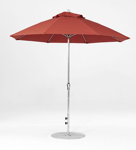 9' Octagon Fiberglass Crank/NO TILT Market Umbrella