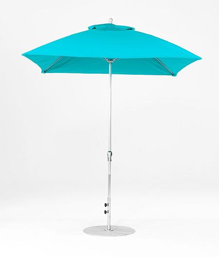 6.5' Square Fiberglass Crank/NO TILT Market Umbrella