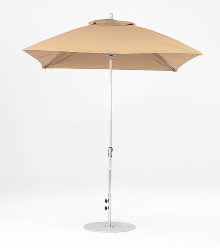 7.5' Square Fiberglass Crank/NO TILT Market Umbrella