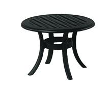 """New Classic 24"""" Round Cast Aluminum Tea Table"""