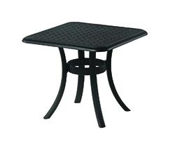 "New Classic 24"" Square Cast Aluminum End Table"