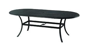 "New Classic 42"" x 84"" Oval Cast Aluminum Table"