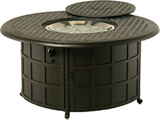 """New Classic 48"""" Round Enclosed Gas Fire Pit Table"""