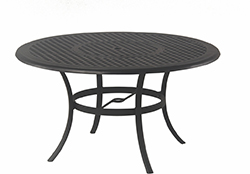 """New Classic 54"""" Round Inlaid Lazy Susan Cast Aluminum Table"""