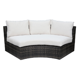 Olympia Wicker Curved Sofa