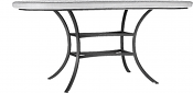 """72"""" Aluminum Classic Oval Bistro Table Base"""