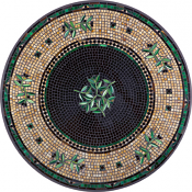 Black Olives Classic Mosaic Table Top