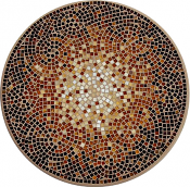 Cafe Au Lait Classic Mosaic Table Top