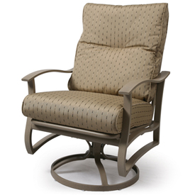 Albany Cushion Spring Swivel Club Chair
