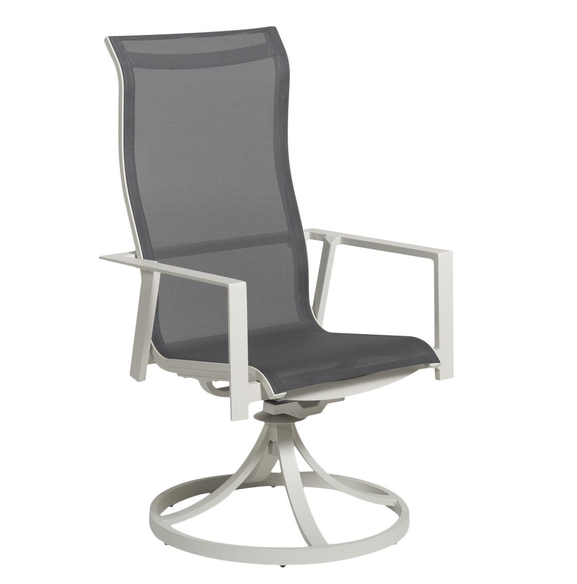 Solana Sling Swivel Rocking Dining Chair