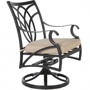 Belle Vie Swivel Rocker Dining Arm Chair
