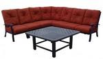 Chesapeake Sectional Set: 1-Left Club Chair, 4 Armless Club Chairs, 1 Corner Club Chair, & 1-Right Club Chair