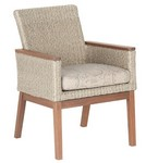 Low Back Arm Chair/ Natural