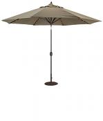 986 11' LED Lights Auto Tilt Umbrella