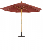 183 11' Wood Market Umbrella