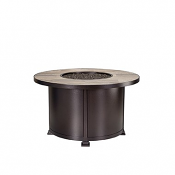 """42"""" Rd. Chat Height Santorini Iron Fire Pit"""