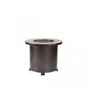 """30"""" Rd. Chat Height Santorini Iron Fire Pit"""
