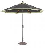 936 9' LED Lights Auto Tilt Umbrella