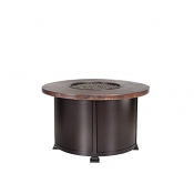 """36"""" Chat Height Hammered Copper Fire Pit"""