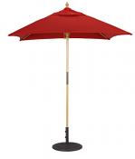 161 6 x 6' Wood Cafe Umbrella