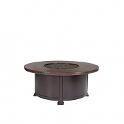 """42"""" Rd. Occasional Height Hammered Copper Fire Pit"""