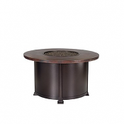 """42"""" Rd. Chat Height Hammered Copper Fire Pit"""