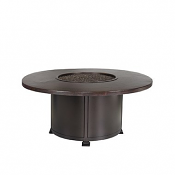 """54"""" Chat Height Hammered Copper Fire Pit"""