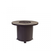 """36"""" Rd. Chat Height Santorini Iron Fire Pit"""