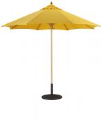 136 9' Wood Market Umbrella